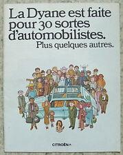 CITROEN DYANE Car Sales Brochure July 1973 FRENCH TEXT