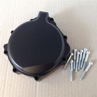 Black Left Engine Stator Cover Billet For Suzuki GSXR600 GSXR750 GSX-R1000 K1