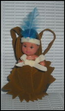 Baby Barbie Doll Native American Indian Baby & Brown Papoose Carrier Accessory