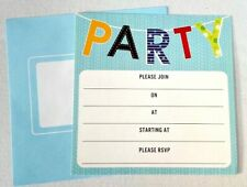 10pc PARTY INVITATIONS simple envelopes birthday lady adult invites cardboard