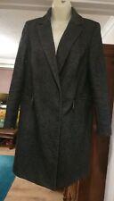 Women's M&S Charcoal Coat. Size 8. Excellent Condition