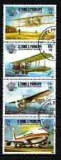 Avions St Thomas et Prince (27) série complète de 4 timbres oblitérés