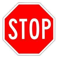 STOP SIGN Parking Traffic Road Street Aluminum Metal 12x12 Sign