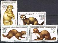 [CF6255] RDA 1982, Serie Feria internacional de la piel de Leipzig (MNH)