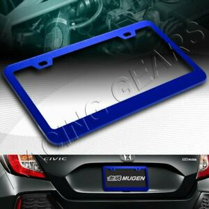 1 X CAR AUTO METAL LICENSE PLATE FRAME HOLDER BLUE ALUMINUM ALLOY FRONT OR REAR