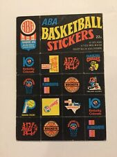 Vintage 1971 Topps Trios ABA Basketball Team Stickers--#22A--Excellent Condition