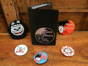 Beano Dennis the Menace Fan Club Badges and Wallet