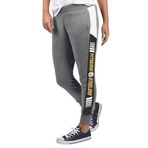 NFL Pittsburgh Steelers Officially Licensed Women's Fleece Tailgate Pants G-III