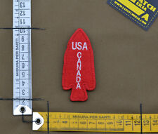 "Ricamata / Embroidered Patch WW2 ""Usa Canada"" with VELCRO® brand hook"
