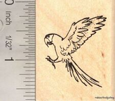Macaw Parrot Rubber Stamp Bird in Flight E16309 WM Wildlife