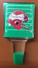 Budweiser Beer Tap Handle Football Field With Red Helmet