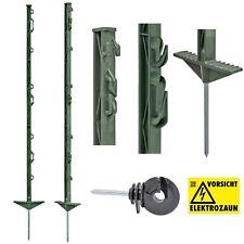 120x 125cm Weidezaunpfähle Weidezaunpfahl Koppelpfahl weiß mit GRATIS Isolatoren