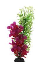 Planta de plástico AquaManta-Estrecho Ludwigia/Rojo Ludwigia (40 Cm)