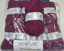Lot of 5 matched skeins Sirdar Snowflake Yarn Plum 317 Nos 50 Grams Each