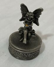 Fairy Silver Toned Ring Box
