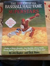 2nd Official Baseball Hall of Fame Book of Superstars W/POSTER By Kaplan  1990
