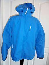 CABELA'S OUTDOOR GEAR DRY PLUS Blue Fleece Lined Hooded Jacket Sz M
