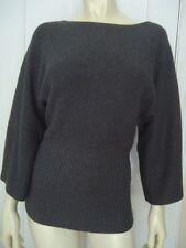ANNE KLEIN Sweater PS Cotton Rabbit Hair Soft Pullover Rib Waist Dolman CHIC!