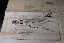 ZF1651 Navig plan maquette avion 1/65 Boeing Stratoclipper Type 377