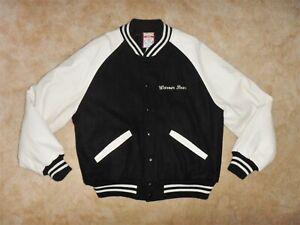 Vintage Looney Tunes Warner Bros Varsity Jacket Coat Leather Wool - Awesome!
