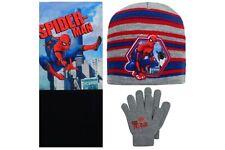 Spider-man - Ensemble 3 pièces - Bonnet Gants tour de Cou - Taille unique