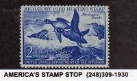 1952 US RW19 $2 Federal Duck Migratory Bird & Hunting - Harlequin Ducks - MLH*