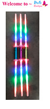 2 Galactic Wars Dual Lightsaber 2 Sided Double Light Up Kids Star Toy Sword