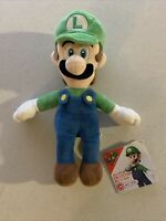 "Little Buddy Toys Super Mario All Star Collection Luigi 10"" Plush USA"