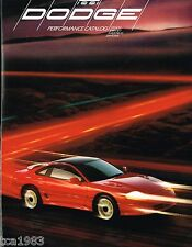 1991 Dodge STEALTH Turbo / SPIRIT R/T / SHADOW ES / DAYTONA Brochure / POSTER