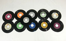 Lot of 11 Records Various Artists Not Tested For Crafts 45's Rpm