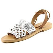 Sandalias con tiras de mujer planos de color principal plata