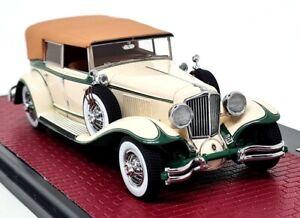 Matrix 1/43 Scale 1931 Cord L-29 Phaeton Sedan Cream / Green Resin Model Car
