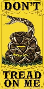 Don't Tread On Me Gadsden Flag Beach Towel