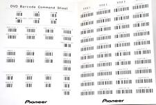 NEW LASER BARCODE COMMAND SHEET for Pioneer DVD V7400 Industrial Video Player