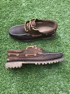 Timberland Classic 3 Eye Lug Brown Leather Shoes Size UK 9
