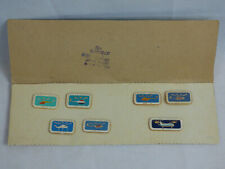 USSR Soviet Union Civil Aviation Helicopters Pin Pinback Set of 6 on Orig. Card