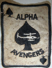 Patch - 101st AIRBORNE - ALPHA AVENGERS - HELICOPTER ATTACK - Vietnam War - 4709