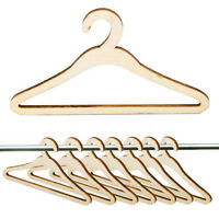 10pcs Wooden Dress Coat Clothes Hangers Tool For 1:6 Doll Clothes Use