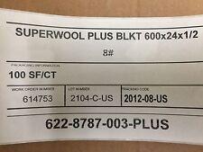 """""""SAFE"""" Non-Ceramic Fiber  Blanket 1/2"""" x 24"""" x 600""""  8# SW PLUS"""