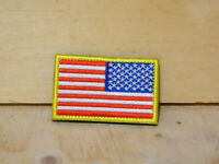 """VELCRO® BRAND Hook Fastener Compatible Patch USA US Flag Reversed Full 3x2"""""""