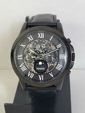 Fossil Automatic skeleton Men's Watch 44mm leather band  multifunction ME3028