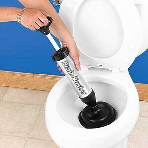 Drain Unblocker Plunger Suction Toilet Kitchen Sink Shower Pipe Clog Plumbing