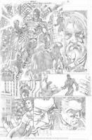 S.EATON/DC/THE MULTIVERSE WHO LAUGHS#1pg.3 ORIG SCOT EATON ART/ CLAUDETTE inks
