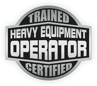 HEAVY EQUIPMENT OPERATOR Hard Hat Sticker   Motorcycle Helmet Decal Stickers