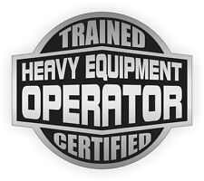 HEAVY EQUIPMENT OPERATOR Hard Hat Sticker | Motorcycle Helmet Decal Stickers