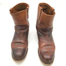 Reddish Tan Redwings Vintage Rustic Men's work boot Size 10 1/2
