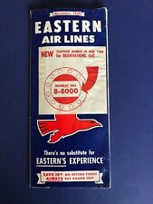 EASTERN AIR LINES  November 1950 travel fold out brochure THE GREAT SILVER FLEET
