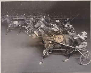 VINTAGE HORSE RACING PHOTO NEWS PHOTO ROOSEVELT RACEWAY NEW YORK SEPT 24 1952