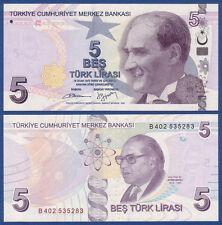 TÜRKEI / TURKEY 5 Lirasi 2009 (2013)  UNC  P.222A