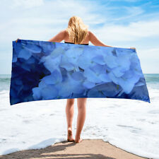 Blue Hydrangea Beach Towel Bath Towels